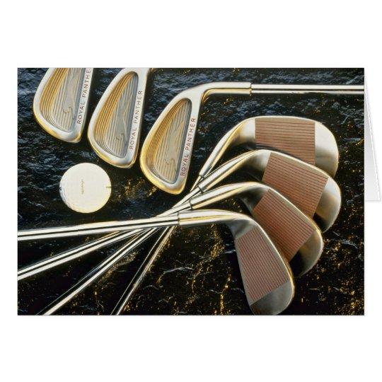Beautiful Golf clubs Card