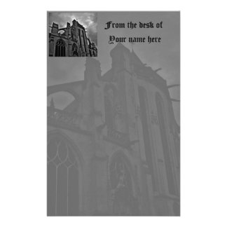 Beautiful Gothic cathedral Stationery