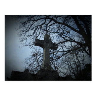 Beautiful Gothic cemetery tombstone post card
