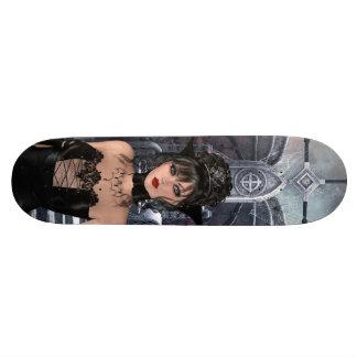 Beautiful Gothic Queen & Throne Skateboards