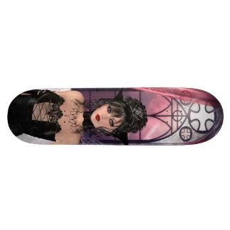 Beautiful Gothic Queen & Window Skate Board