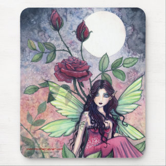 Beautiful Gothic Rose Mousepad by Molly Harrison