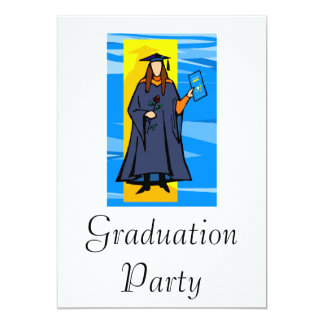 Beautiful Grad 13 Cm X 18 Cm Invitation Card