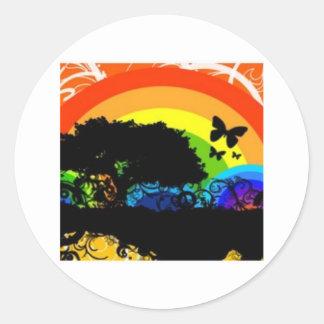 Beautiful graphics round sticker