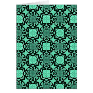 beautiful green and black victorian kaleidoscope cards