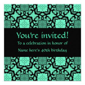 beautiful green and black victorian kaleidoscope invites