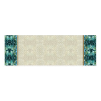 Beautiful Green and Blue Glass Mosaic Pack Of Skinny Business Cards