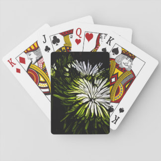 beautiful green and white floral design.png playing cards