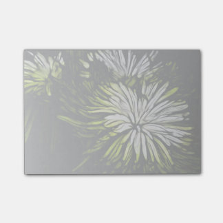 beautiful green and white floral design.png post-it® notes