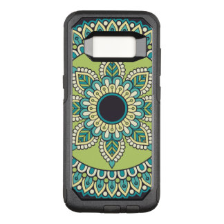Beautiful green Boho Design OtterBox Commuter Samsung Galaxy S8 Case