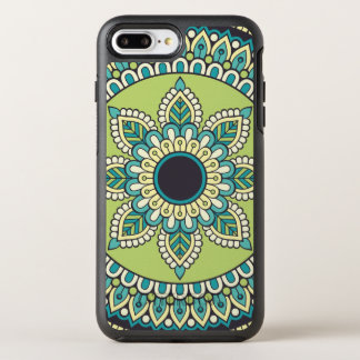 Beautiful green Boho Design OtterBox Symmetry iPhone 8 Plus/7 Plus Case