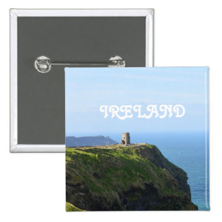 Beautiful Green Cliffs of Moher 15 Cm Square Badge