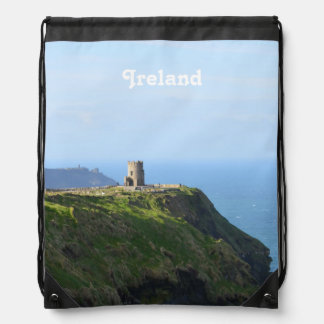 Beautiful Green Cliffs of Moher Drawstring Backpack