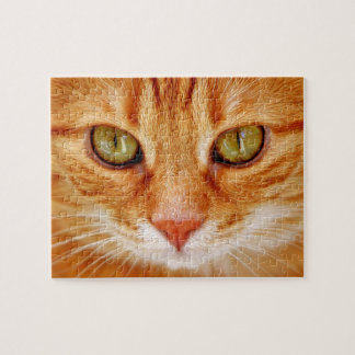 Beautiful Green Eyed Orange Tiger Cat Jigsaw Puzzle