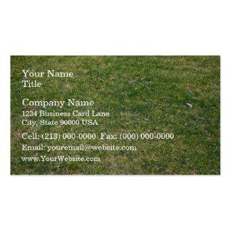 Beautiful Green Grass Background Business Card Template