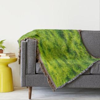 Beautiful Green Grass Pattern Throw Blanket