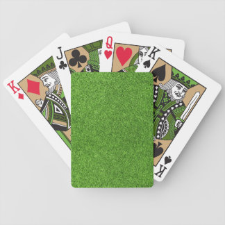 Beautiful green grass texture from golf course bicycle playing cards