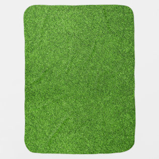 Beautiful green grass texture from golf course buggy blanket