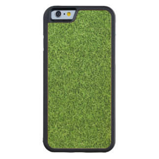 Beautiful green grass texture from golf course carved maple iPhone 6 bumper case