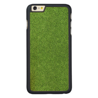 Beautiful green grass texture from golf course carved maple iPhone 6 plus case