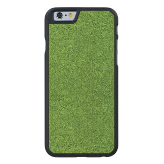 Beautiful green grass texture from golf course carved® maple iPhone 6 slim case