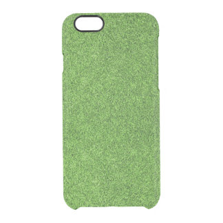Beautiful green grass texture from golf course clear iPhone 6/6S case