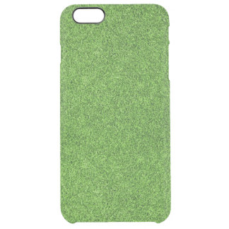 Beautiful green grass texture from golf course clear iPhone 6 plus case