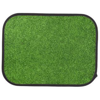 Beautiful green grass texture from golf course floor mat