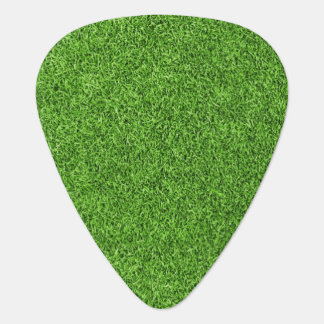 Beautiful green grass texture from golf course guitar pick