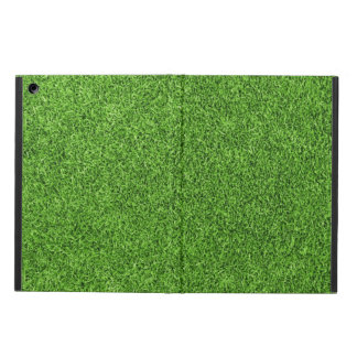 Beautiful green grass texture from golf course iPad air cover