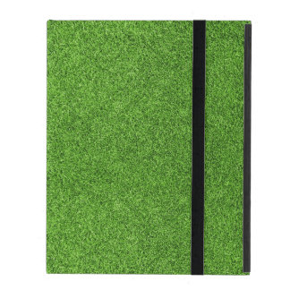 Beautiful green grass texture from golf course iPad folio case