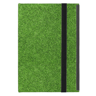 Beautiful green grass texture from golf course iPad mini cases