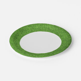 Beautiful green grass texture from golf course paper plate