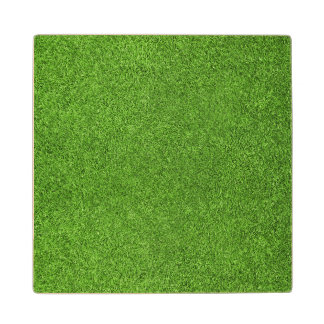 Beautiful green grass texture from golf course wood coaster