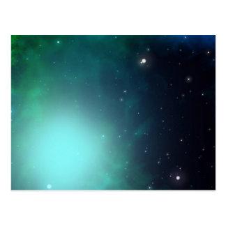 Beautiful Green Nebula filled with Stars Postcard
