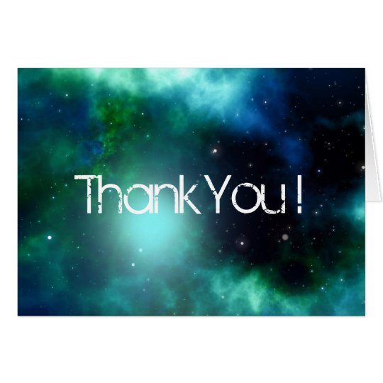 Beautiful Green Nebula Thank You Card