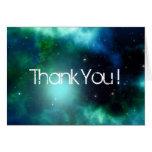 Beautiful Green Nebula Thank You Note Card