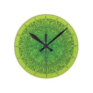 Beautiful Green Oriental Design Wall Clock