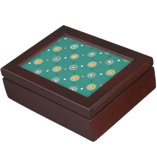 Beautiful Green Polka Dot Keepsake Box