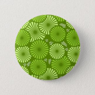 Beautiful, green retro floral Button
