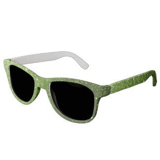 Beautiful Greenery Green glitter sparkles Sunglasses