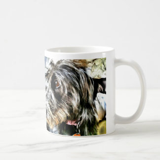 Beautiful grey lurcher coffee mug