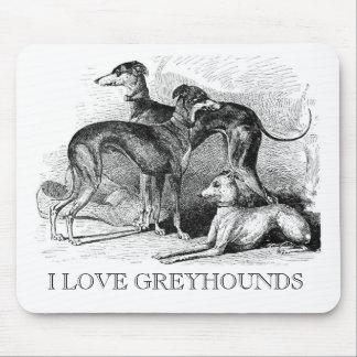 Beautiful Greyhounds Mouse Pad