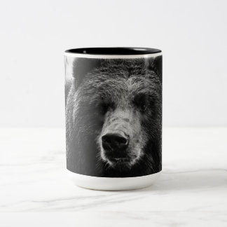 Beautiful Grizzly Bear Two-Tone Mug