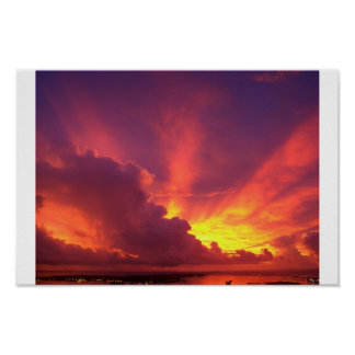 Beautiful Guam Sunset Poster
