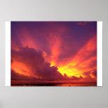 Beautiful Guam Sunset Posters