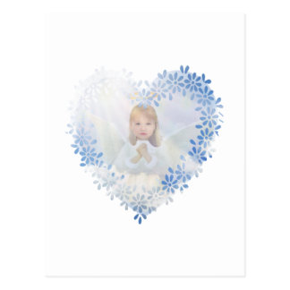Beautiful guardian angel cherub postcard