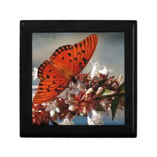 Beautiful Gulf Fritillary Butterfly Jewelry Boxes