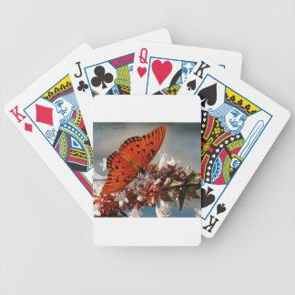 Beautiful Gulf Fritillary Butterfly Bicycle Poker Deck