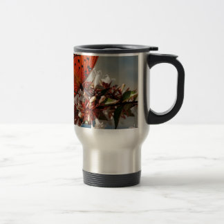 Beautiful Gulf Fritillary Butterfly Stainless Steel Travel Mug